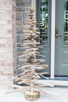 DIY Rustic Driftwood Evergreen/Christmas Tree- SustainMyCraftHabit