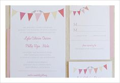 Bunting Wedding Invitation: These bunting wedding invites are sweet and simple. Source: Wedding Chicks