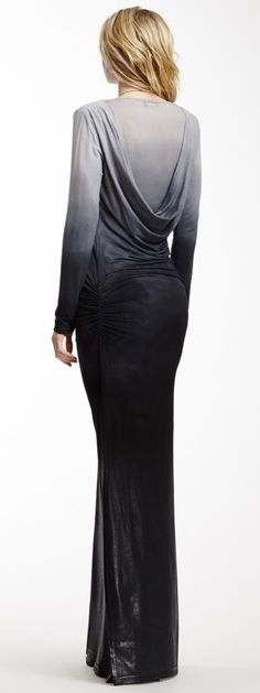 Jersey evening gown with hood back. Stefana Ombre Maxi Dress - Lolly