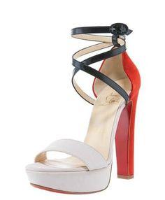 Summerissima Crisscross Platform Sandal by Christian Louboutin #  Sandal #Christian_Louboutin