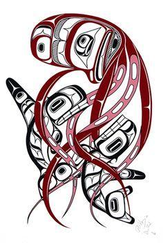 Limited edition serigraph, measuring x First Nations art at Black Tusk Gallery. Haida Kunst, Arte Haida, Haida Art, Arte Tribal, Tribal Art, Native American Artwork, American Indian Art, Tatouage Haida, Hannya Maske