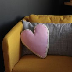 Pillow Keepsake Nursery Decor by JoyfulHouseDesigns Heart Pillow, Letter Pillow, Couch Pillows, Throw Pillows, Teenage Room, Toddler Rooms, Unique Home Decor, Vegan Leather, Room Inspiration