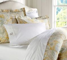 Celeste Damask Duvet Cover & Sham - Gold | Pottery Barn