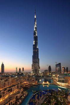 Burj Khalifa, Dubai, UAE--tallest man-made structure in the world
