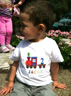 Hey, I found this really awesome Etsy listing at https://www.etsy.com/listing/156431321/personalized-embroidered-boys-train