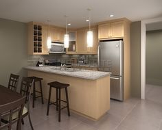 kitchen with natural maple cabinets - google search | kitchens