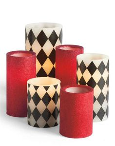 Our Battery-operated Harlequin Candles are perfect for adding a touch of flickering ambience to your Halloween ball, but the real magic is in the remote.