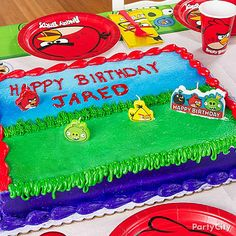 Cake is always a party hit ;) Bake a sweet cake and top it with our Angry Birds Mini Candles to set the scene! Birthday Themes For Boys, Cool Birthday Cakes, Boy Birthday Parties, Happy Birthday, Birthday Ideas, Candy Crush Cheats, Mini Candles, Bird Theme, Dessert Decoration