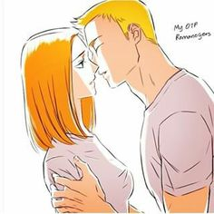 This is my fav fanart of them <3 Of course he is going for the kiss because he is not afraid to show it