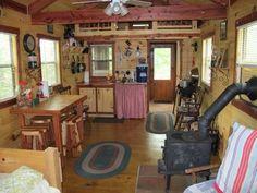log amish kitchen