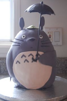 My Neighbor Totoro cake By thelilyofthewest on CakeCentral.com