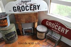 VINTAGE SIGN WITH MMSMP | Miss Mustard Seeds Milk Paint