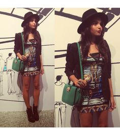 This is Alana Ruas's buyer show in OurMall;  #DRESS #HAT #BOOT #HEEL #Necklace please click the picture for detail. http://ourmall.com/?iqimYf
