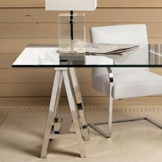 Small Office Desk, Glass Office, Office Table, Office Workspace, Home Office ,