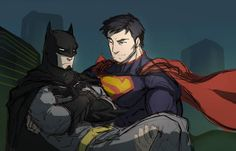 From Superman paired with Catwoman to Wonder Woman and Mera as an item, we're intrigued by this fan art featuring non-canon DC couples. Superman X Batman, Superman Family, Deviant Art, Super Batman, Otp, Dc Couples, Superbat, Fandoms, Clark Kent