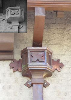 Copper Gutters, Copper Roof, Colonial, French Exterior, French Drain, Shutters, Old World, Metals, Leo