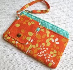 Tag Along Wristlet / AOP  Summer Bliss by shannyann on Etsy