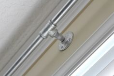 DIY galvanized pipe curtain rod- HOW TO MAKE ONE!