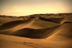 Glamis sand dunes without all the riders! So beautiful...I miss it.