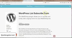 MailChimp List Subscribe Form How to Set it Up On Your Wordpress Blog