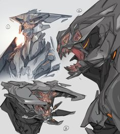 autodestruct (Search results for: halo) Alien Concept Art, Creature Concept Art, Character Concept, Character Art, Character Design, Monster Design, Monster Art, Alien Creatures, Fantasy Creatures