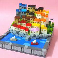 Tiny City by Lego Minecraft, Lego Lego, Minecraft Houses, Minecraft Skins, Lego Design, Legoland, Lego Ville, Lego Poster, Instructions Lego