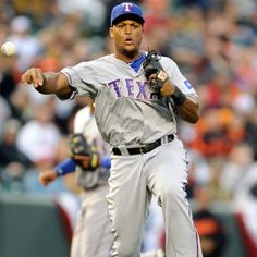 Adrian Beltre - Texas Rangers. Can make the throw from 3rd to 1st look so simple Texas Rangers Players, My Rangers, Rangers Baseball, Baseball Socks, Sports Baseball, Baseball Players, Fantasy Baseball, America's Pastime, Sports Fanatics