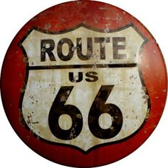 You'll get your kicks with this Route 66 Shield Road Sign Domed Metal Sign. It features the iconic Route 66 highway shield with vintage style distressing! Garage Art, Garage Signs, Route 66 Sign, Tableau Pop Art, Vintage Metal Signs, Vintage Country, Vintage Style, Rustic Style, Rustic Decor