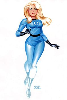 Invisible Woman by Bruce Timm.