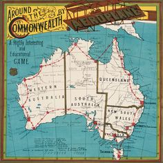 Australia - Around the Commonwealth by Aeroplane - A Highly Interesting and Educational Game, 1911