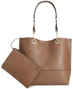 Calvin Klein Reversible Tote With Pouch | macys.com