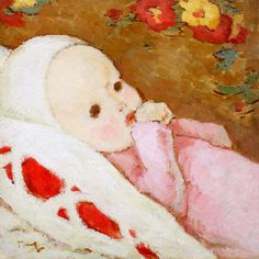 File:Nicolae Tonitza - Copil in rose. Magic Realism, Post Impressionism, Art Database, Oil Painting Reproductions, 2nd Baby, Sculpture, Art For Kids, Art Children, In This World