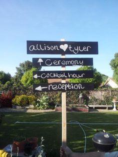 DIY Furniture : DIY Chalk Board Directional Sign