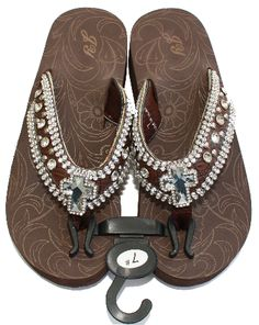 Coffee Rhinestone Flip Flops..I bought these same sandals at the end of the summer and love them!!