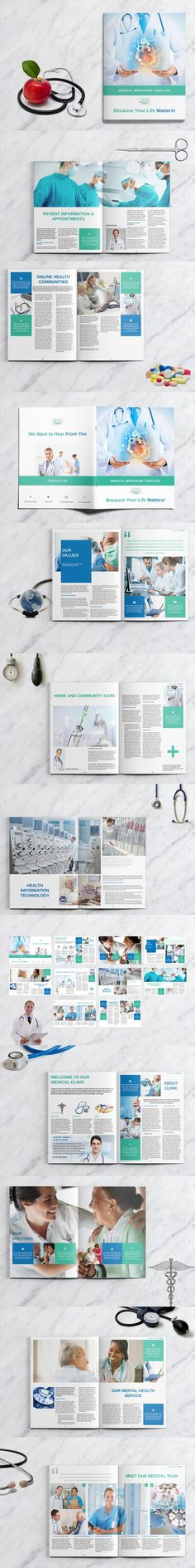 Modern Medical Brochure Medical brochure, Brochures and Medical - medical brochure template