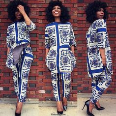 Ankara Styles Linda Omeni and Cory Harris Top Bold Prints From Midget-Giraffe 2018 . African Print Fashion, African Fashion Dresses, Fashion Prints, Ethnic Fashion, Fashion Outfits, Mens Fashion, Fashion Boots, Fashion Ideas, African Attire