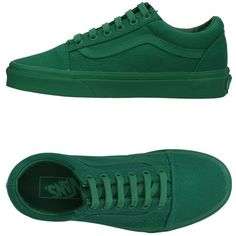 Vans Women Sneakers on YOOX. The best online selection of Sneakers Vans. YOOX exclusive items of Italian and international designers - Secure payments Green Flats, Green Sneakers, Vans Sneakers, Vans Shoes, Vans Footwear, Toe Shoes, Flat Shoes, Van Trainers, Womens Fashion For Work