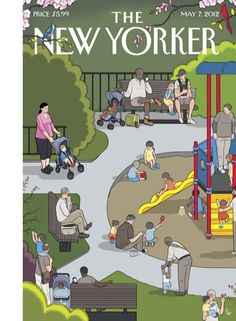 "Cover of the May 7, 2012 issue.  Click through to see the New Yorker covers that have inspired Chris Ware, who drew this week's cover, ""Mother's Day"": http://nyr.kr/J4Gg4j"
