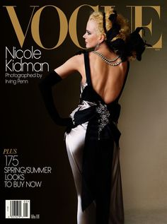 Magazine covers can excel at timely responses to events in the world, but they can also provide a canvas for timeless, artistic imagery that doesn't get enough room elsewhere in the mass media. Irving Penn demonstrated that potential over decades of work for Vogue magazine, where his career began in 1943. His portrait of Nicole Kidman here in 2004 was his first cover shoot for Vogue since 1989. Mr. Penn died at 92 in October 2009.