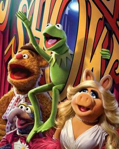 KERMIT,PIGGY,FOZZIE AND GONZO.