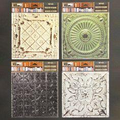 Architextures 6x6 Tin Tiles - 4 Pack No Colour