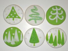 Green and white Christmas cookies | Flickr - Photo Sharing!