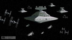 Concept art for Star Wars Rebels shows an Empire Star Destroyer and TIE Fighters