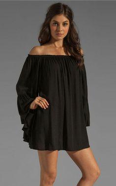 1a22cd57a85e New slit neckline loose chiffon dresses - Fabtag
