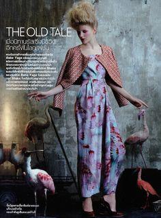 Our Masha Burlan (@Star System Kiev / Zoom) for Elle Thailand Sep'14