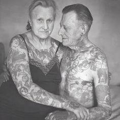 http://pinterest.com/NancyStyles/tattoos/ Haha so sweet!)))  This photo from Book Cover from Bilderbuchmenschen: tätowierte Passionen, 1878-1952. Tattoo-artist Herbert Hoffmann (December 19, 1919—June 30, 2010)