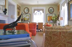 P. Allen Smith front parlor in summer Ward Lile design via Talk of the House