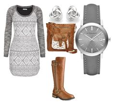 """""""Untitled #1"""" by chelseaadams-2 ❤ liked on Polyvore featuring maurices, Georgini, Burberry and T-shirt & Jeans"""