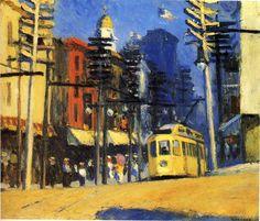 Edward Hopper (22 de julio de 1882, Upper Nyack, Nueva York -15 de mayo de 1967, Manhattan, Nueva York), Yonkers, 1916 ~Repinned Via Anna Peale. Períodos: Escuela Ashcan, Realismo artístico, Arte moderno