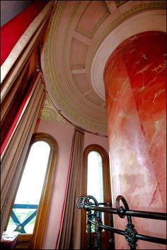 This is the viewing room at the top of Beckford's Tower near Bath, England. See the beefy-looking pillar to the right of the picture? The secret staircase to the roof is inside there. As described in 'Heyday'. Travel English, Wander, Places To Go, Castle, Tower, England, The Incredibles, Bath, Architecture